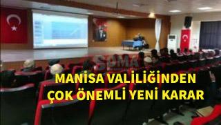 Manisa Valiliğinden yeni KOVİD19 kararı