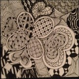 zentangle flower and heart