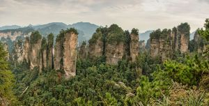 """1 zhangjiajie huangshizhai wulingyuan panorama 2012"" by chensiyuan - chensiyuan. Licensed under GFDL via Wikimedia Commons."