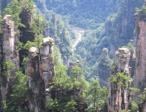Tianzi Gebirge im Wulingyuan Nationalparkt (China)