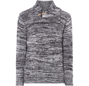 REVIEW Strickpullover Schalkragen