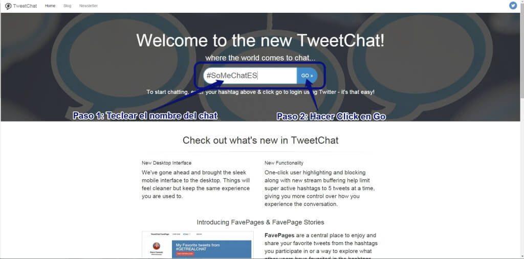 Tweetchat- Herramienta de gestión de SoMeChatES