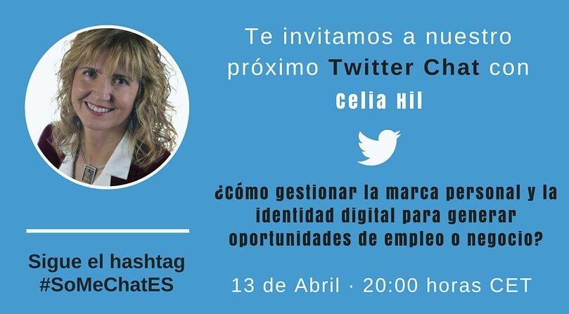 Identidad digital Twitter chat Celia Hil