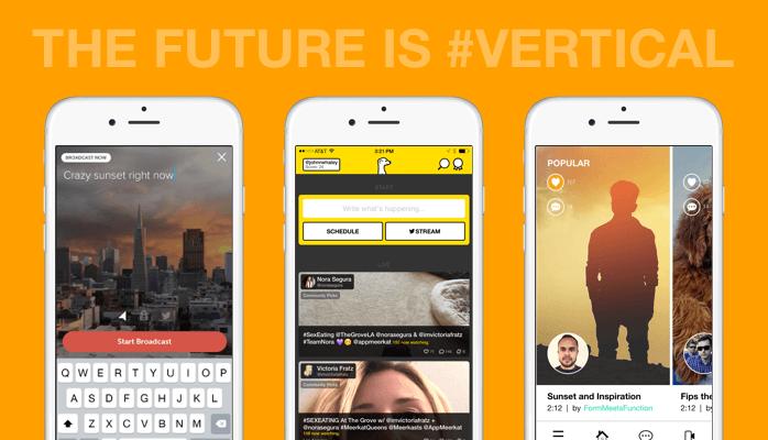 Vídeos verticales Snapchat y Periscope