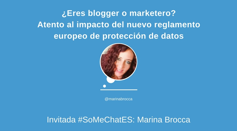 Reglamento Europeo de Protección de datos - Twitter chat Marina Brocca