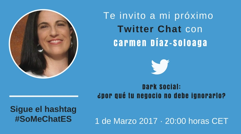 Analítica Digital - Twitter chat Carmen Díaz-Soloaga