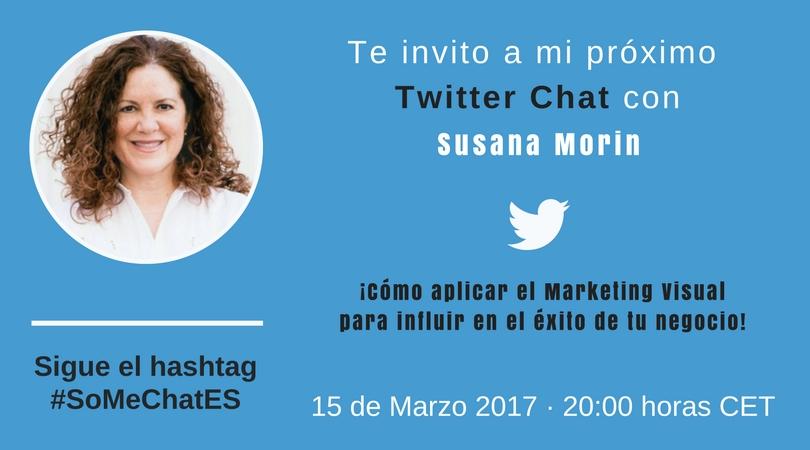 Marketing de contenidos visual Twitter chat Susana Morin