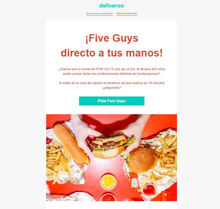 Marketing para apps - Deliveroo