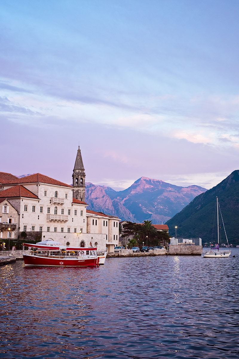 Perast a favorite travel destination.