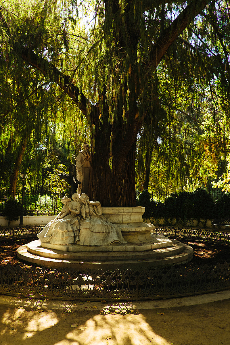 Statute in Park