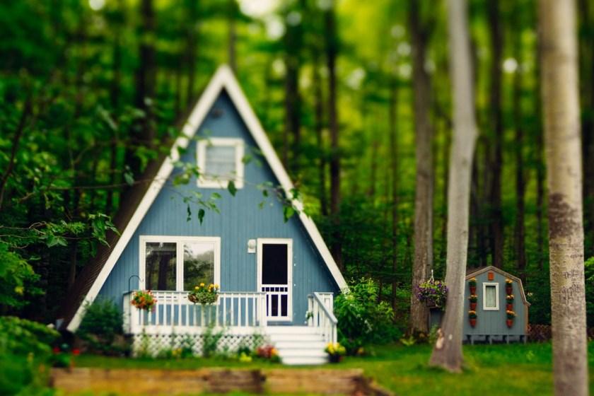 a-frame home in michigan