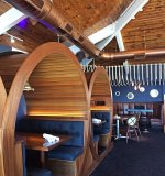 Stafford's Pier Restaurant Barrel Booths