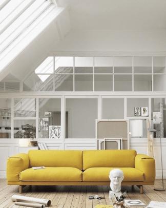 Hello Yellow. Rest Sofa from Muuto | Someday Designs