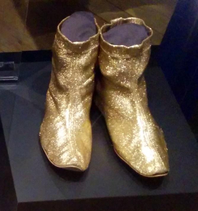 Cline gold shoes