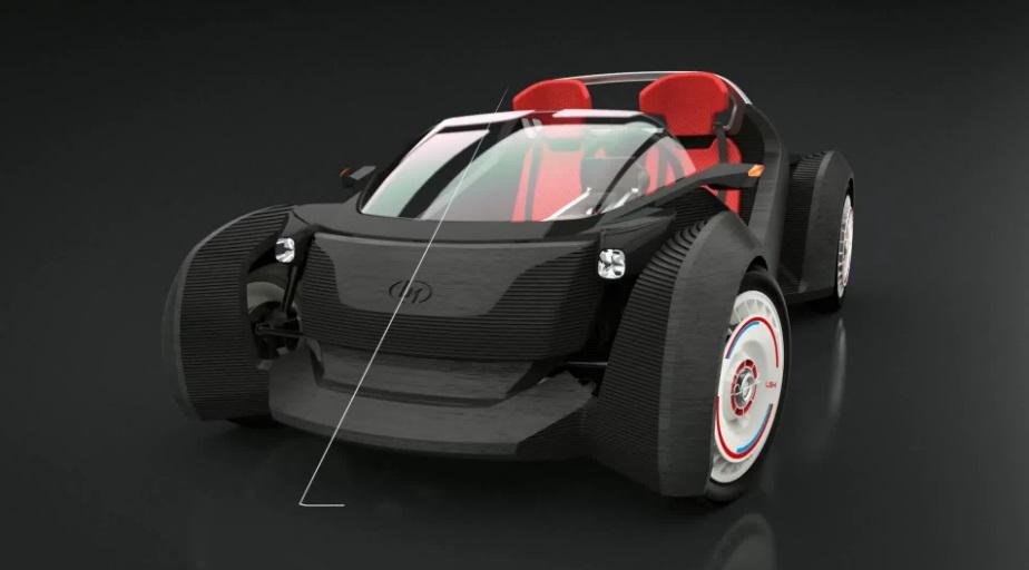 local motors Strati 3d printed electric car front