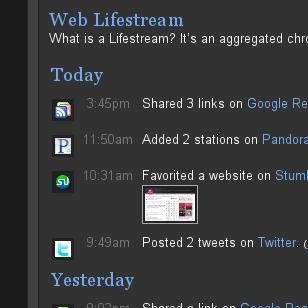 Added Lifestream Page