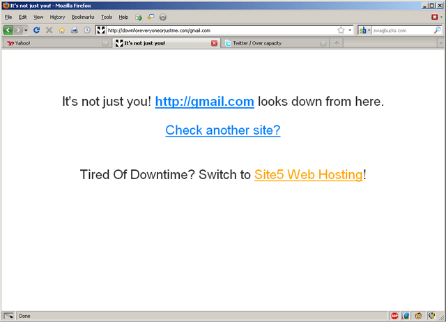 It's not just you! gmail down