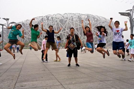 jumping at olympic park