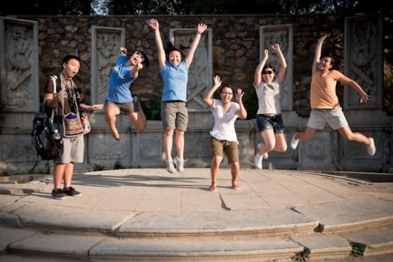 jumping at yuanmingyuan