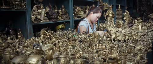 Chinese Brass shop
