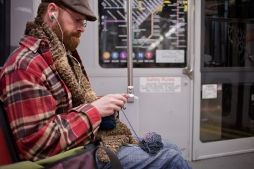 Knitting on Muni