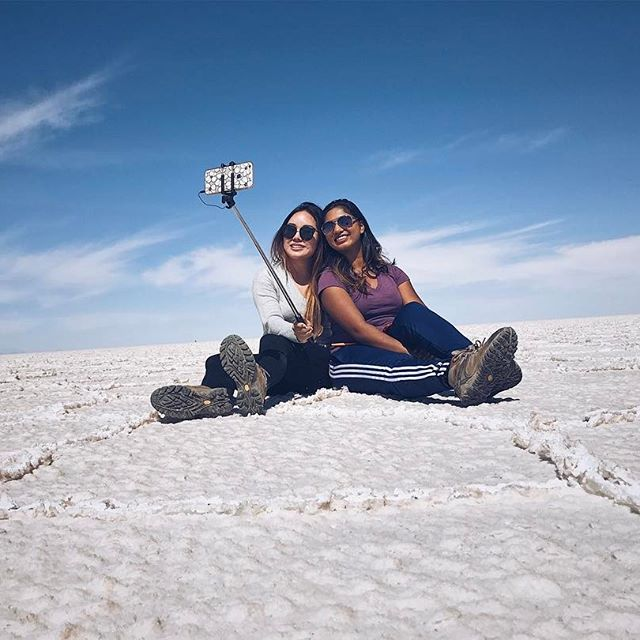 #selfies on the #saltflats
