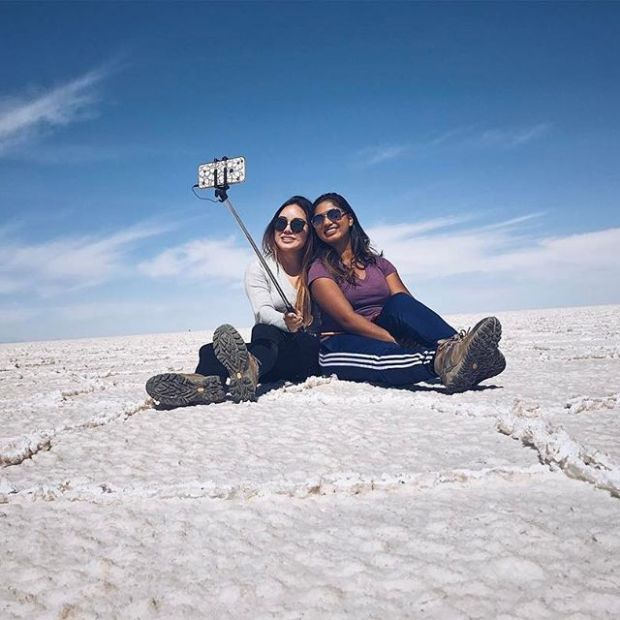 #selfies on the #saltflats