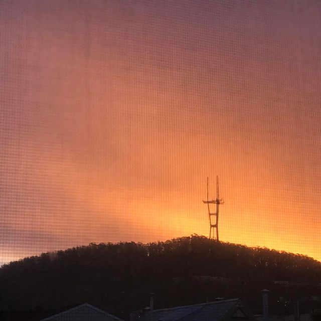 Good morning #sutrotower (view through my window screen)