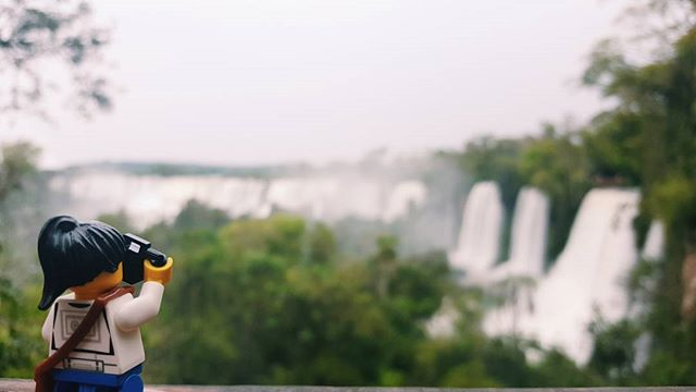 #legojen in the jungle, taking pictures of neverending waterfalls. These are the Iguazu Falls, from the Argentina side.