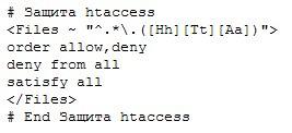 Защита файла htaceess