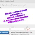 Пять способов удалить поле «Сайт» в комментариях Wordpress