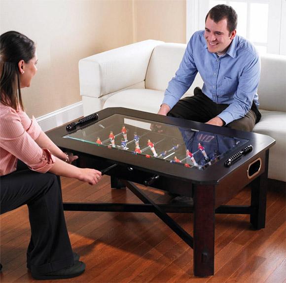 Mesa de centro com pebolim