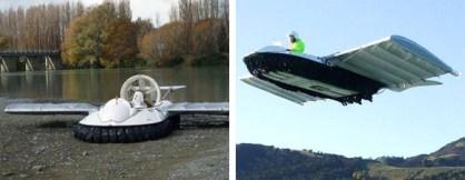Flying Hovercraft: barco voador