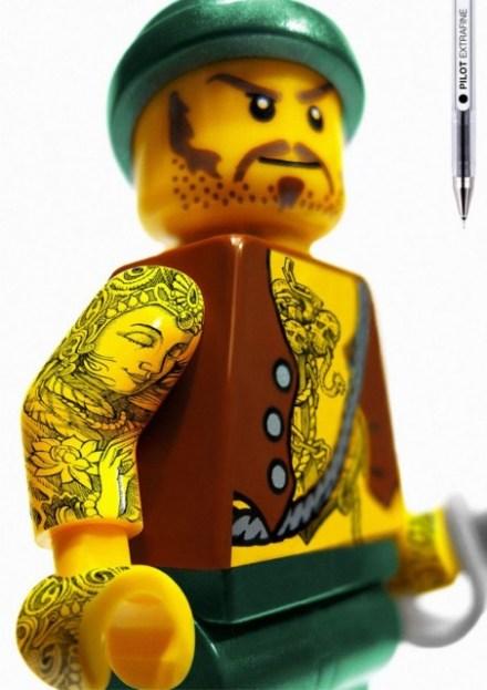 Legos Tatuados: caneta extra fina