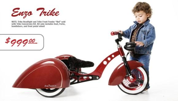 Bicicleta infantil estilo retrô