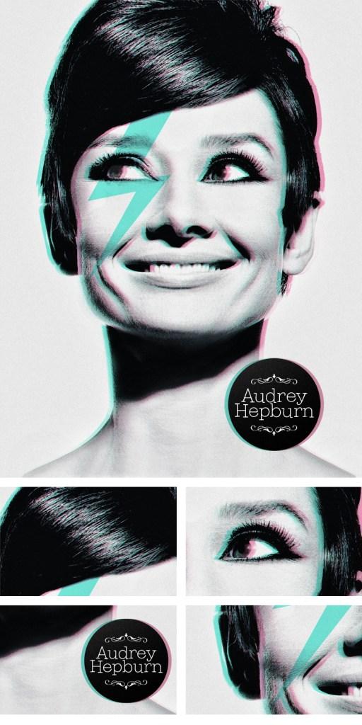 Audrey Hepburn Poster David Bowie