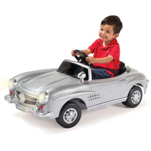 Mini Mercedes elétrica prata