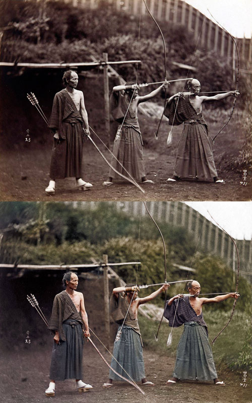 kyudoka-japanese-archers-c1860-photo-chopshop-original