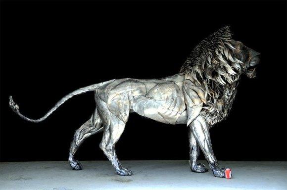 Leão de Metal - Escultura (5)
