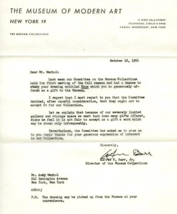 Andy-Warhol-carta-rejeicao