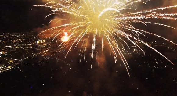Fogos filmados por drones (2)