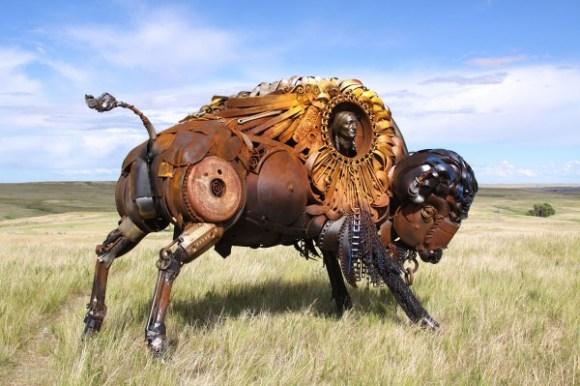 esculturas animais de sucata (3)