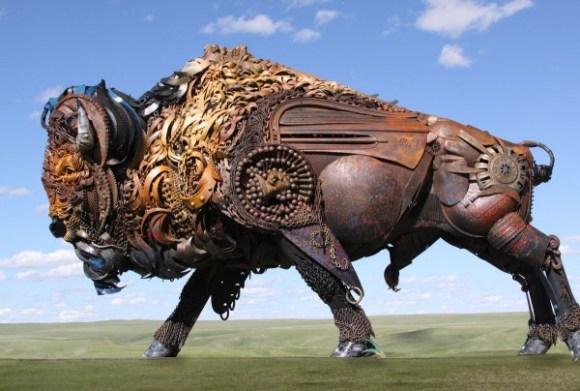 esculturas animais de sucata (4)