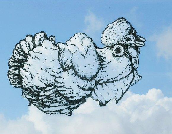 Desenho em nuvens - galinha (1)