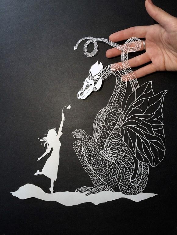 Escultura de papel cortado 5
