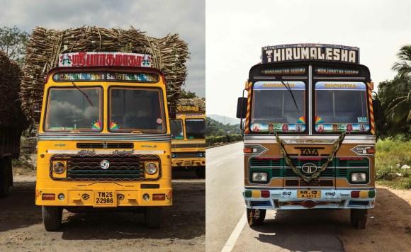 Caminhões decorados da Índia - 17