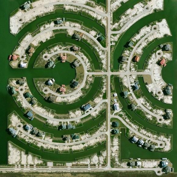 Cidade de Hitchcock - Texas - Golfo do México - Fotos aéreas