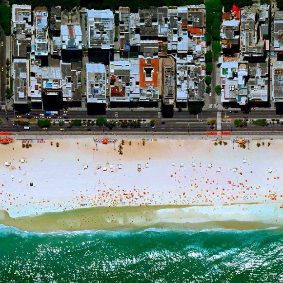 Praia de Ipanema - Rio de Janeiro - Brasil - Fotos aéreas