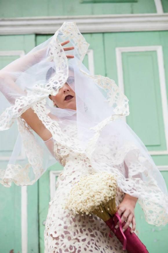 Vestidos de noiva com sacos de cimento 1