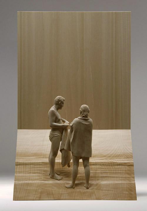 Esculturas hiper-realistas em madeira - PeterDemetz 10